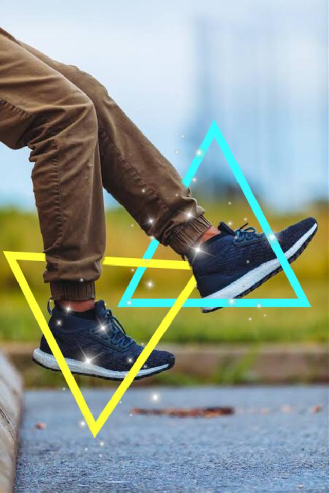 #freetoedit #shoes #triangles #blue #yellow #glitter #post #interesting #art