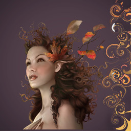 freetoedit celtic leaves fire autumn