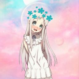 freetoedit anime anohana japan art