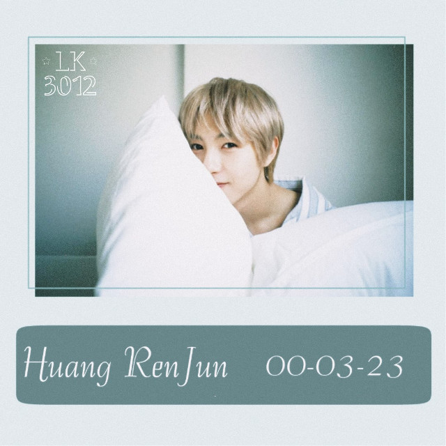Renjun 🍃  Happy Renjun Day!  I couldn't post for his birthday yesterday because I was feeling so bad, I'm sick 😥 but I better now 👌  Happy birthday to the softest baby in the world ✨ I wish you a lovely day cutie 💕 take care!  This is so simple but it's really nice 😍 what do yo think? Hope you like it my little kim's 💕💫  📝 Request Open 🔓   ---🦋 Tags 🦋---  #happyrenjunday #renjun #huangrenjun #nct #nctdream #nctrenjun #nctdreamrenjun #kpop #kpopnct #kpopedit #nctedit #nctdreamedit #renjunedit