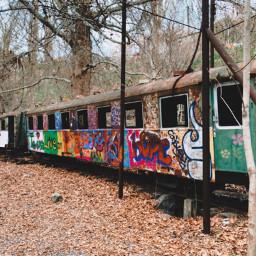train leftout streetart freetoedit