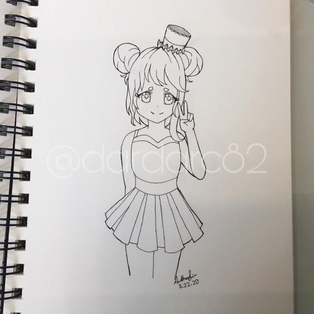 AhHhHhH Rate it pls? ;-; #art #cute #anime #lineart #sketchbook #oof #girl #pretty #tophat #artist