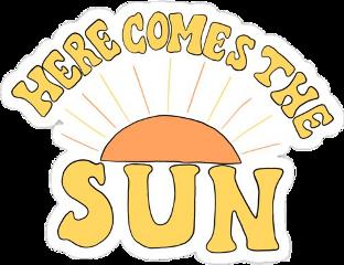 sun herecomesthesun yellow orange aesthetic freetoedit