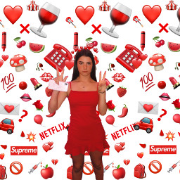 freetoedit charlidamelio heartbackground heartcrown red
