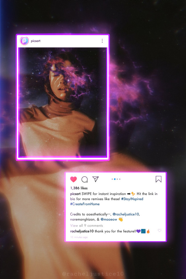 thank you for the feature @picsart 💜💙  shoutout to my friend @aaesthetically-- for her feature🔥! · · · #freetoedit #picsart #instagram #feature #galaxy #featured #VIP #neon #Shoutout #featuredimages