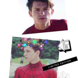 peterparker tomholland spiderman sick getwellsoon freetoedit