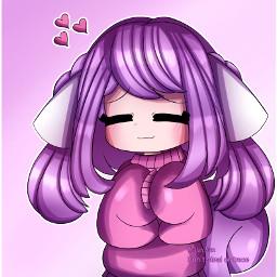 oc animegirl anime girl purplehair