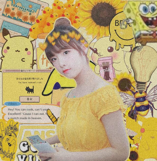 #freetoedit #yellow #yena #izone  I MADE THE BACKGROUND