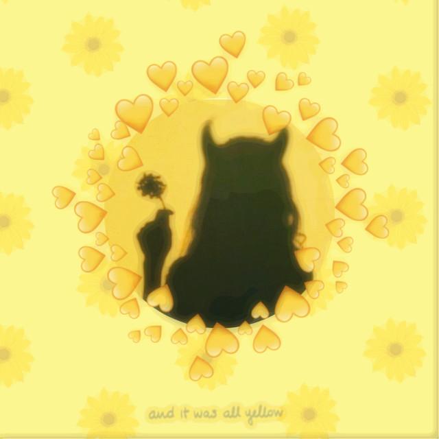 #freetoedit #yellow #aesthetic #hearts #demon