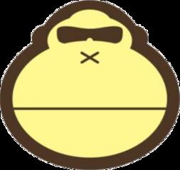 sunbum yellow monkey summer freetoedit