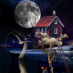 freetoedit house gate fantasy art