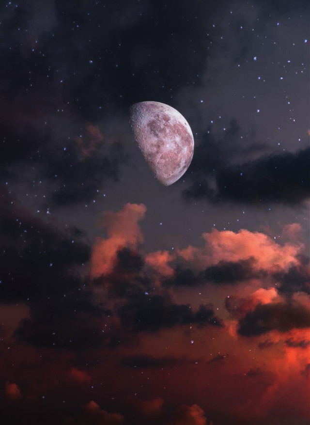 #freetoedit #cloudsbackground  #moon #skybackground #nature