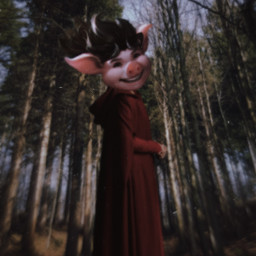 freetoedit forest piglet nature trees
