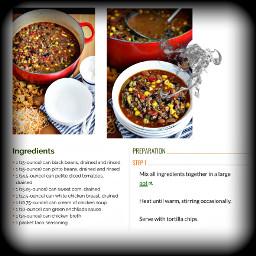 freetoedit recipe food bean soup
