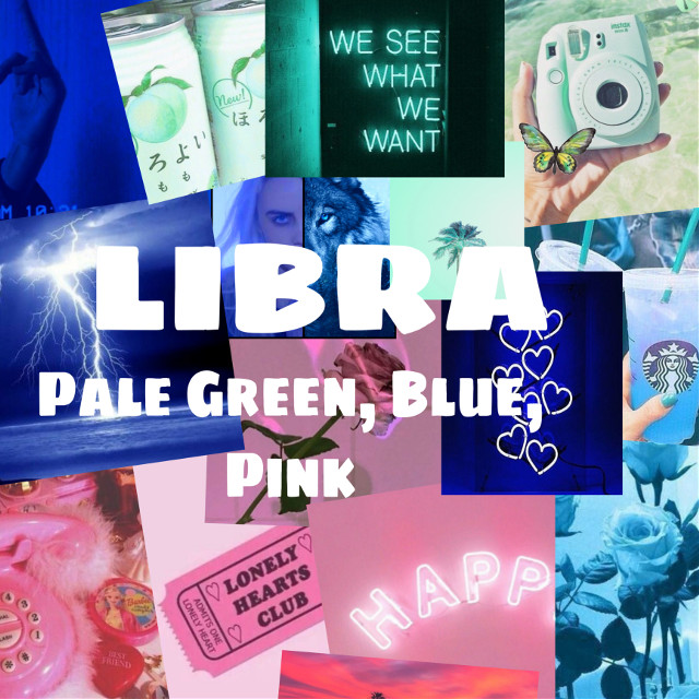 #freetoedit #libra #palegreen #blue #pink #zodiacsigns #colors