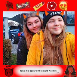 bff bestfriends polishgirls red devils freetoedit