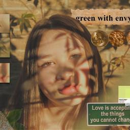 freetoedit greenaesthetic green greenery golden