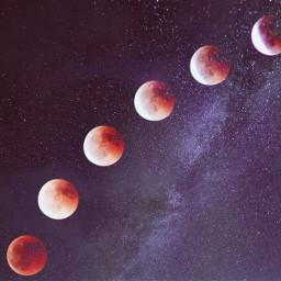 moons sky galaxy retro retroeffect freetoedit