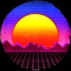 retro sun sunset vintage aesthetic freetoedit
