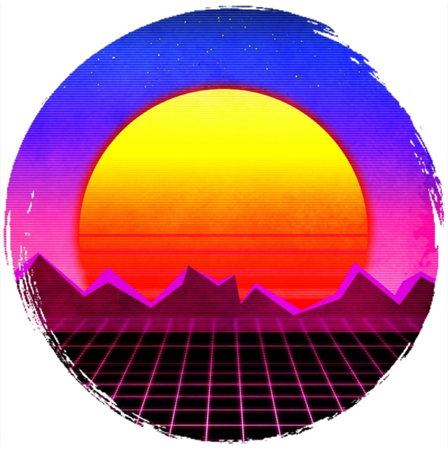 #retro #sun #sunset #vintage #aesthetic #circle #sticker #moodboard #grid #paint #ombre #retrosticker #freetoedit