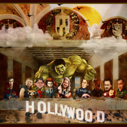 lastsupper avengers marvel hollywoodsign remixofmyremix freetoedit