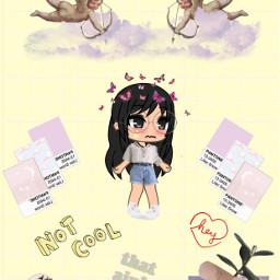 freetoedit gachalifehalloweenoc yellow art invitations