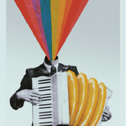 freetoedit rainbow man papicks collageart