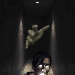 freetoedit fear girl woman dark