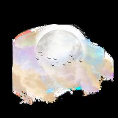 freetoedit moon birds clouds cute