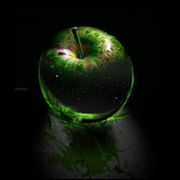 freetoedit apple colour green tasty