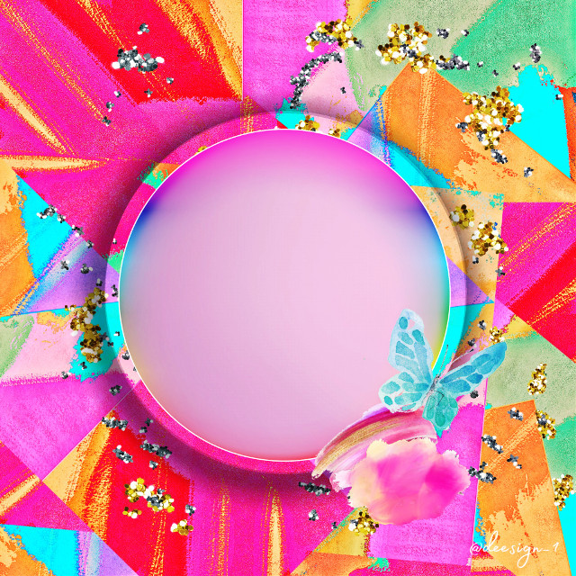 #freetoedit #picsart #art #paint #frame #round #geometric #colorful #createfromhome #remix #remixit