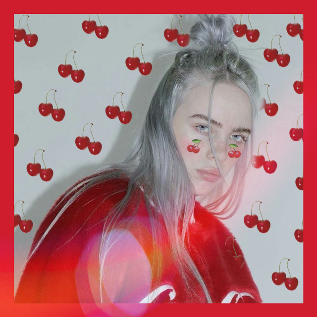 Cherry 🍒#people #billieeilish #billie #eilish #cherry #freetoedit