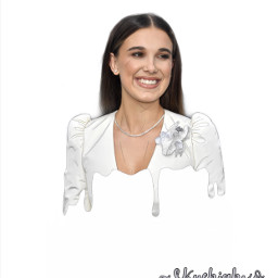 milliebobbybrown outlineedit outline drip dripedit freetoedit