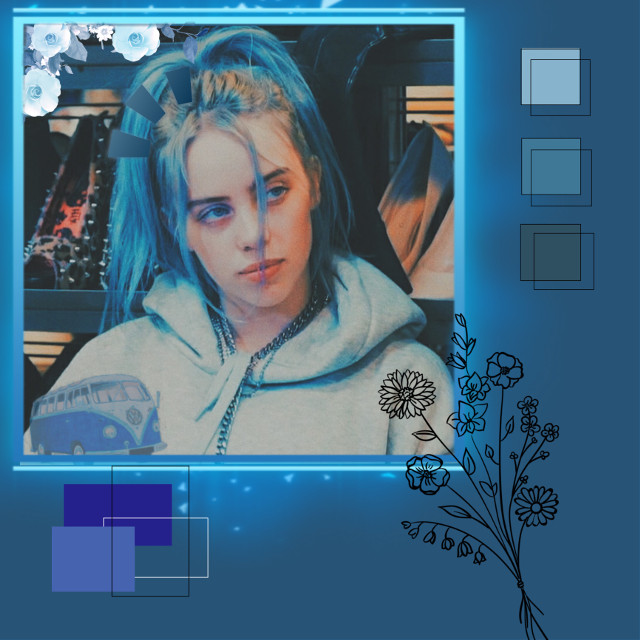 #freetoedit#blue#billie#eilish#flowers
