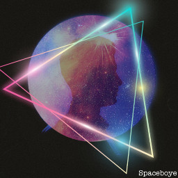 freetoedit galaxy space hipster triangles