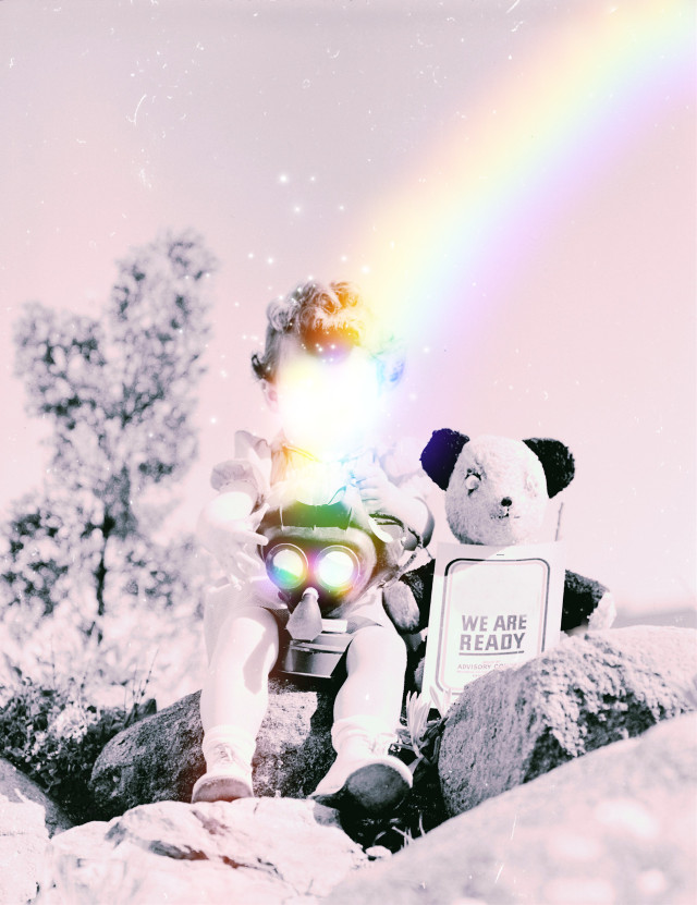i hope w̶e̶ ̶a̶r̶e̶ ̶r̶e̶a̶d̶y̶  #hope #ready #rainbow #stars #virus #covid_19 #people #photography #surreal #edit #myedit