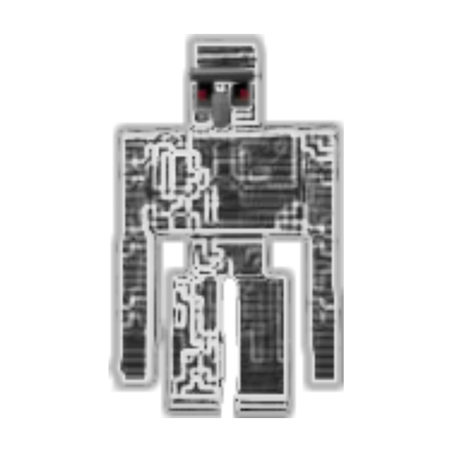 Flint Golem #minecraft #irongolem #freetoedit