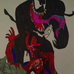 venom spiderman blood gore
