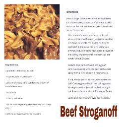 freetoedit recipe beefstroganof