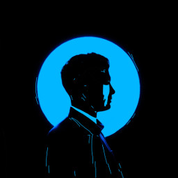 freetoedit blue black man cry ircsilhouette silhouette createfromhome stayinspired