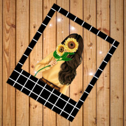 poliroid sunflower freetoedit