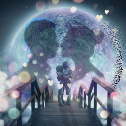 love moonlit moon couple hearts freetoedit ircsilhouette silhouette createfromhome stayinspired