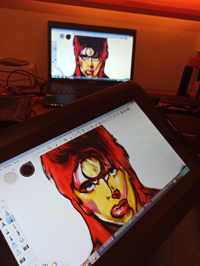 Rebel Rebel, dibujando con la xppenartist12pro... #digitaldrawing #theprometeus #bowie #illustration