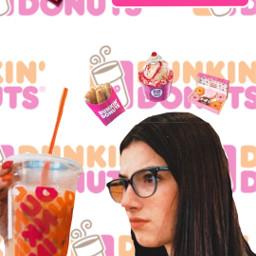 freetoedit donuts pinkorange orangepink dunkindonuts