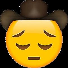 cowboy yeehaw sad cowboyemoji meme freetoedit