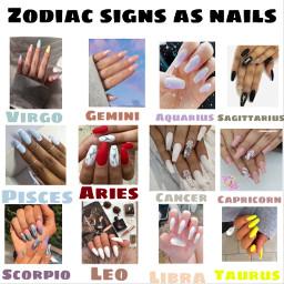 zodiac signs eeuu tiktok nails freetoedit