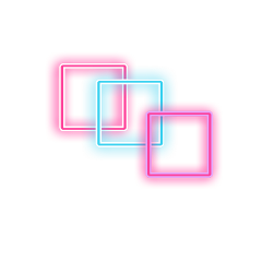 neon square blue purple pink freetoedit