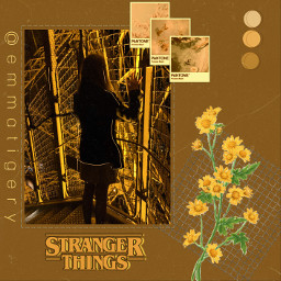 freetoedit people strangerthings aesthetic yellow brown paris eiffeltower girl