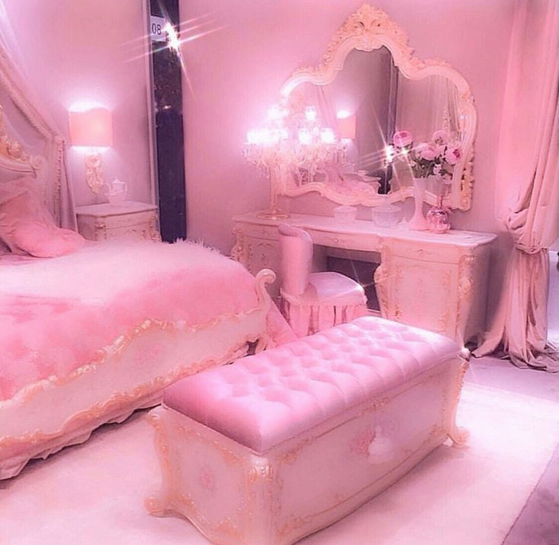 Pink Baddie Aesthetic Girly Bedroom Image By Unique