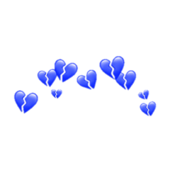 heart blue bluehearts cute sad freetoedit